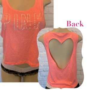 Victoria's Secret PINK Tank with Heart Cutout Back
